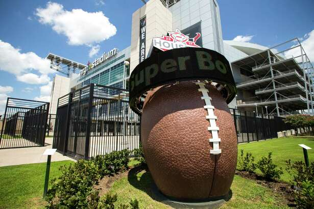 The Super Bowl LI countdown clock outside NRG Stadium is ticking. The game will be on Feb. 5.