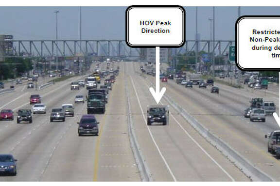 A plan for off-peak HOV lanes along U.S. 290, as shown in a Metro briefing.