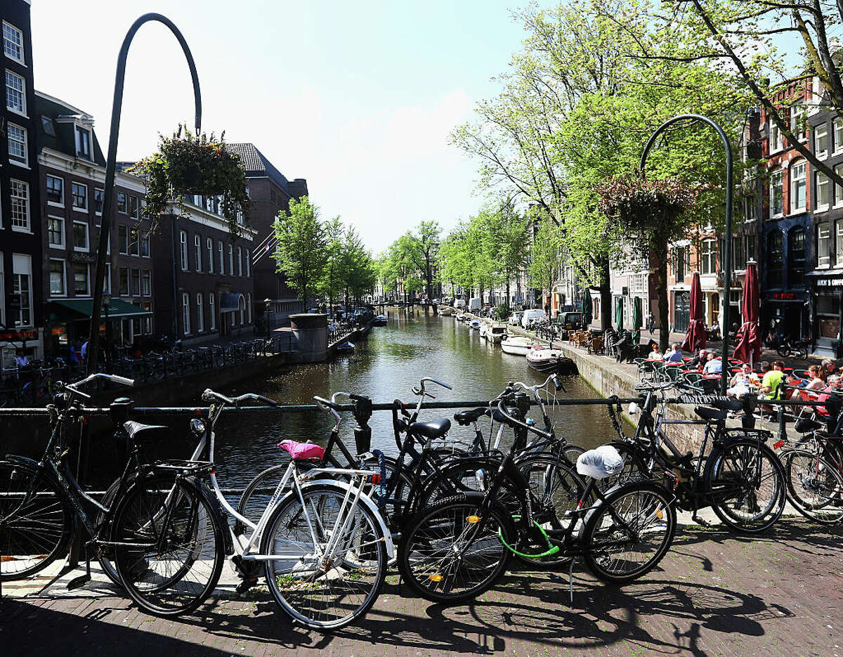 With its charming canals and art museums - not to mention the notorious red-light district and the coffeeshops/legal weed vendors - it's not tough to imagine that Amsterdam would be one of the top spots that wealthy Bay Area people visit.