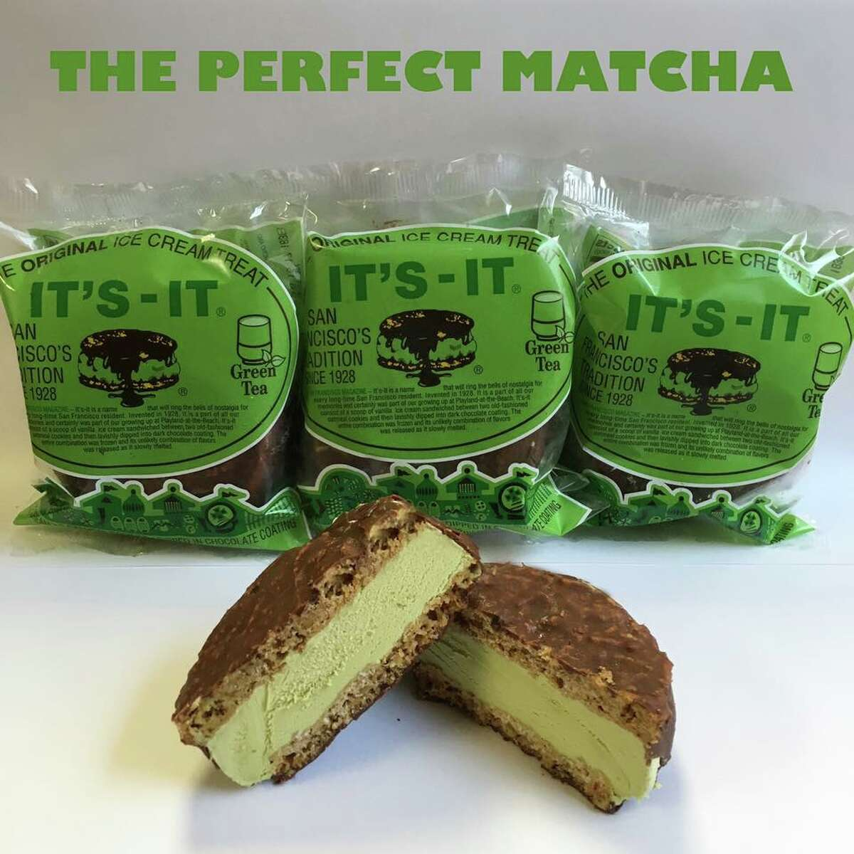 It's-It now makes a new flavor of their famous ice cream sandwiches: green tea.