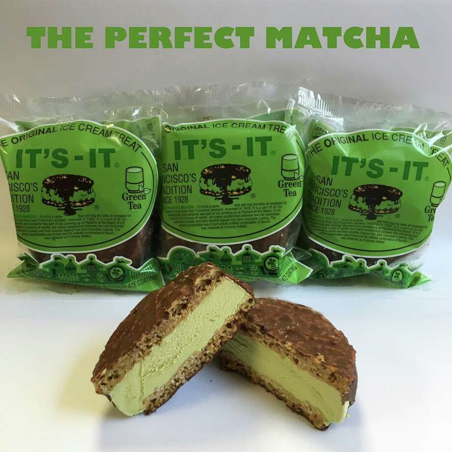 It's-It now makes a new flavor of their famous ice cream sandwiches: green tea. Photo: Its-It