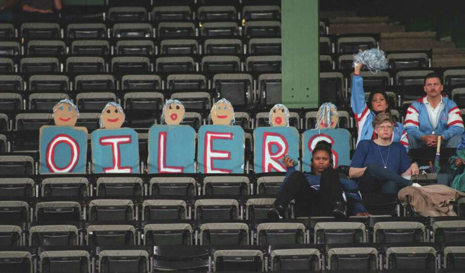 PHOTOS: When the Oilers left town  A small crowd during the final Oilers game played in the Astrodome, a loss to the Cincinnati Bengals, Dec. 15, 1996.  >>>See what happened when the Oilers left H-Town... Photo: DAVE EINSEL, HC Staff / Houston Chronicle