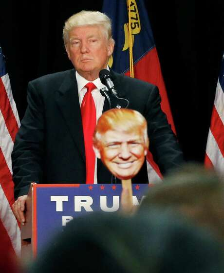 Donald Trump spoke for the first time since his campaign shake-up. Photo: Gerald Herbert, STF / Copyright 2016 The Associated Press. All rights reserved. This material may not be published, broadcast, rewritten or redistribu