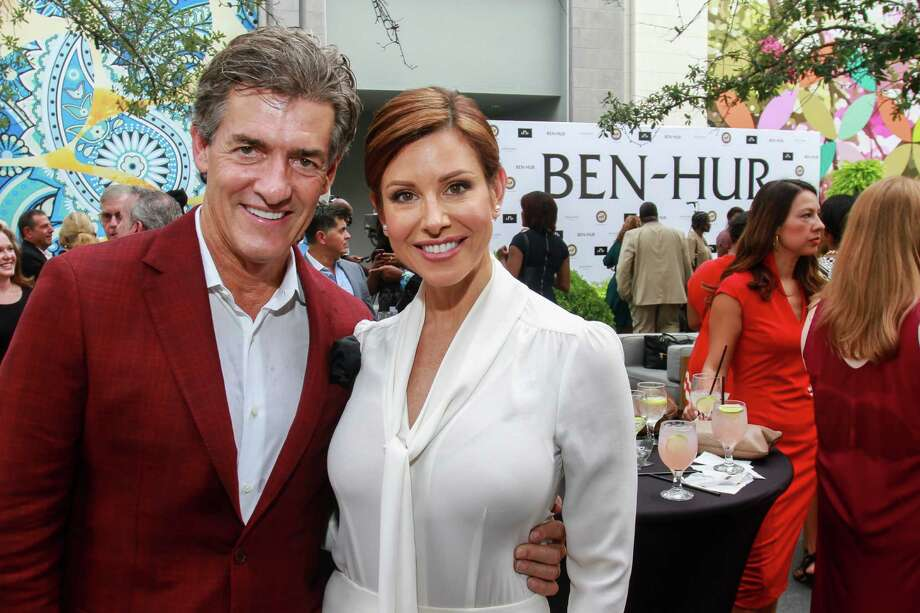 "KPRC anchor Dominique Sachse and her husband, Nick Florescu, at the pre-screening reception for ""Ben-Hur."" Photo: Gary Fountain, Gary Fountain/For The Chronicle / Copyright 2016 Gary Fountain"