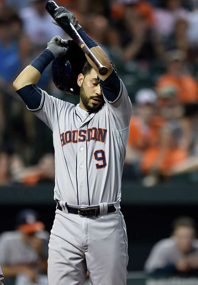 Watching Marwin Gonzalez and the Astros lose their fifth in a row wasn't easy. Photo: Gail Burton, FRE / FR4095 AP