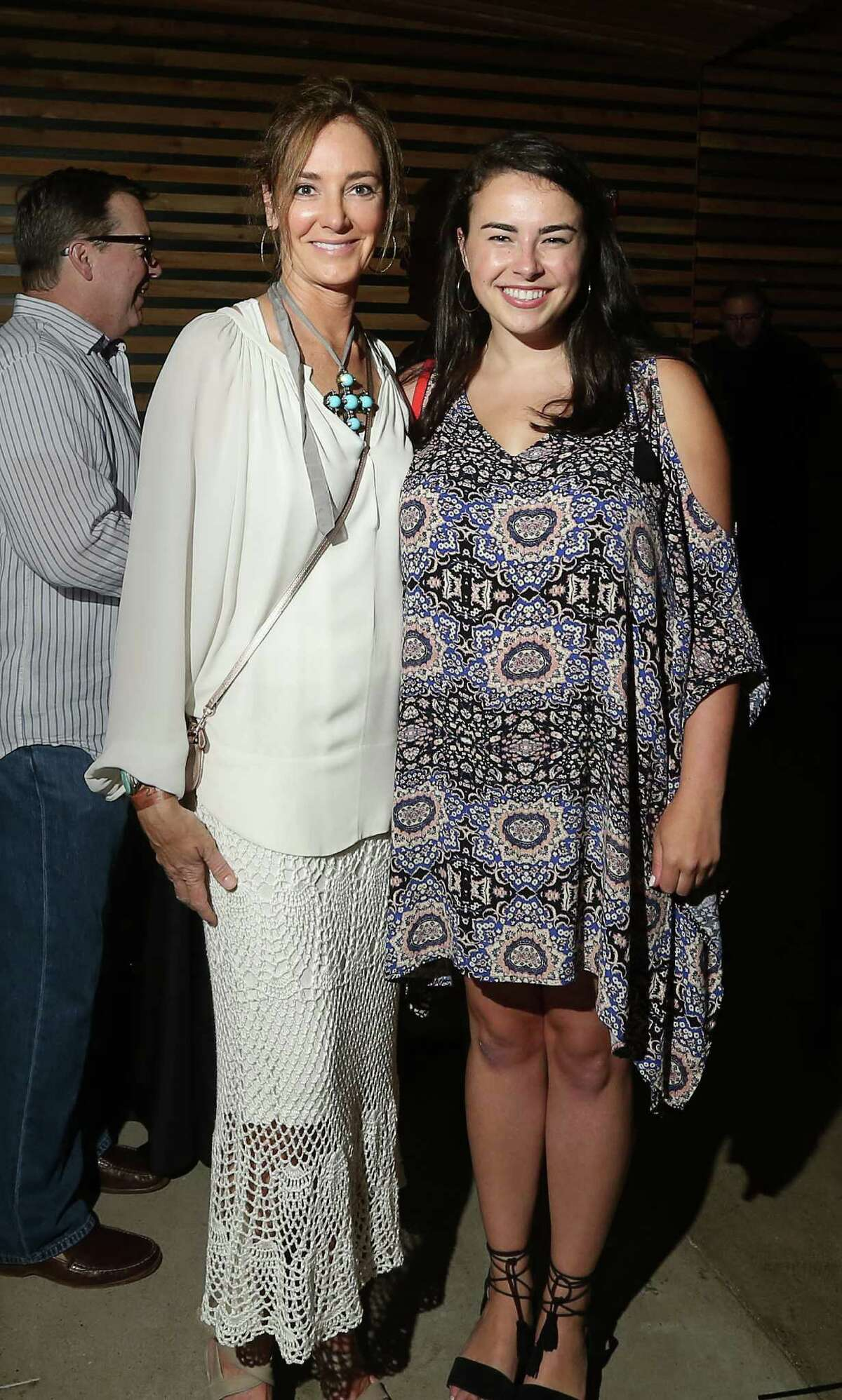 Renee Lewis and Lexie Brown at the opening of the White Oak Music Hall on Aug. 18