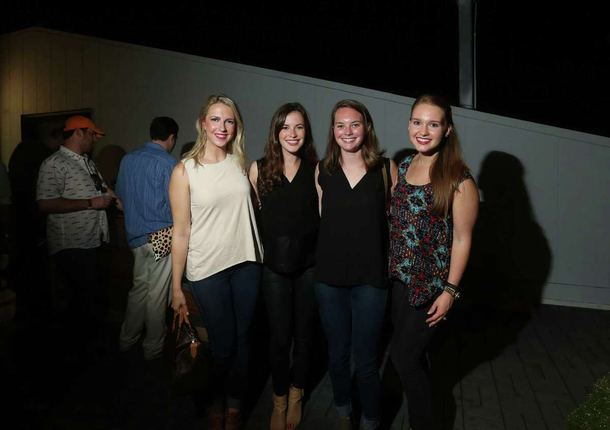 Alex Blett, Rebekah Straton, Chelsea Fred and Stephanie McKeever at the opening of the White Oak Music Hall, Thursday, Aug. 18, 2016, in Houston.