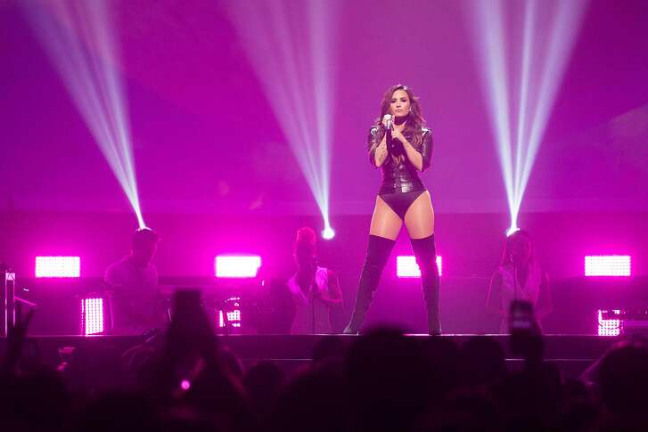 Demi Lovato performs during the Future Now Tour at the SAP Arena in San Jose, Calif. on Thursday, Aug. 18, 2016. Lovato and Jonas have been friends ever since appearing on the Disney Channel together.
