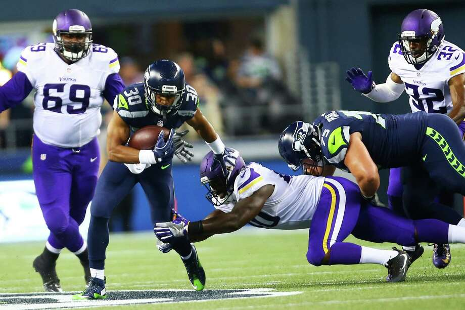 RB Zac BrooksNotes: The Seahawks' final 2016 draft choice hasn't had a chance to get going after suffering a hamstring injury in training camp and seems stuck behind C.J. Prosise and George Farmer for a third-down back role. Photo: GENNA MARTIN, SEATTLEPI.COM / SEATTLEPI.COM