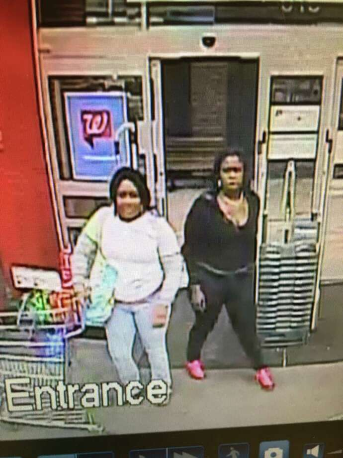 These two woman are suspected of shoplifting $1,400 in cosmetics from the Southbury Walgreen's on Thursday, Aug. 18. 2016. Photo: Southbury Police Department