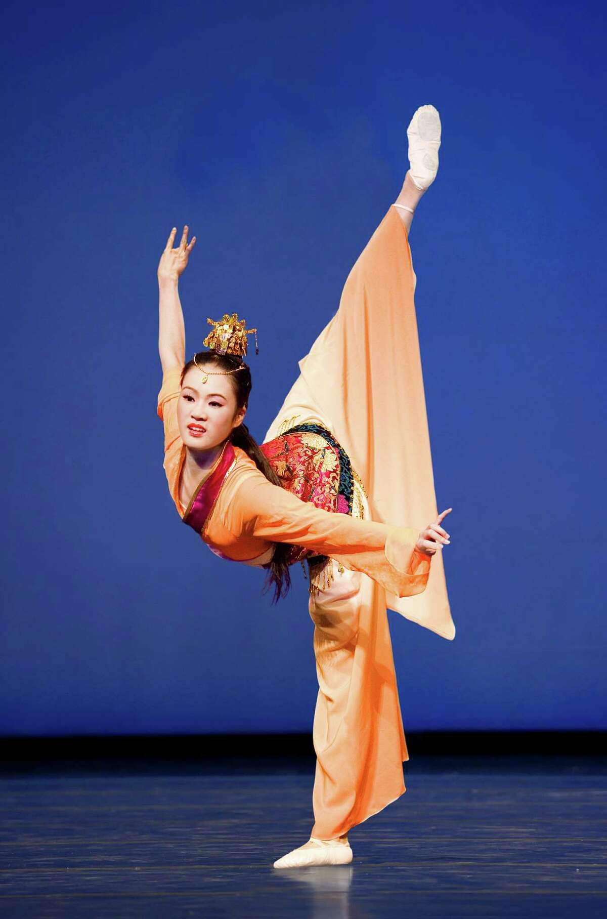 Lily Wang, a dancer with Shen Yun Performing Arts, will appear at the Palace Theater in Waterbury this week. The classical Chinese dance group will also be performing at Lincoln Center in New York, Jan. 11-15.