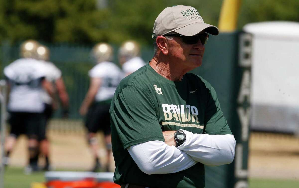 """Interim coach Jim Grobe says """"there is no real road map"""" for what he has inherited at Baylor after an offseason sexual-assault scandal."""