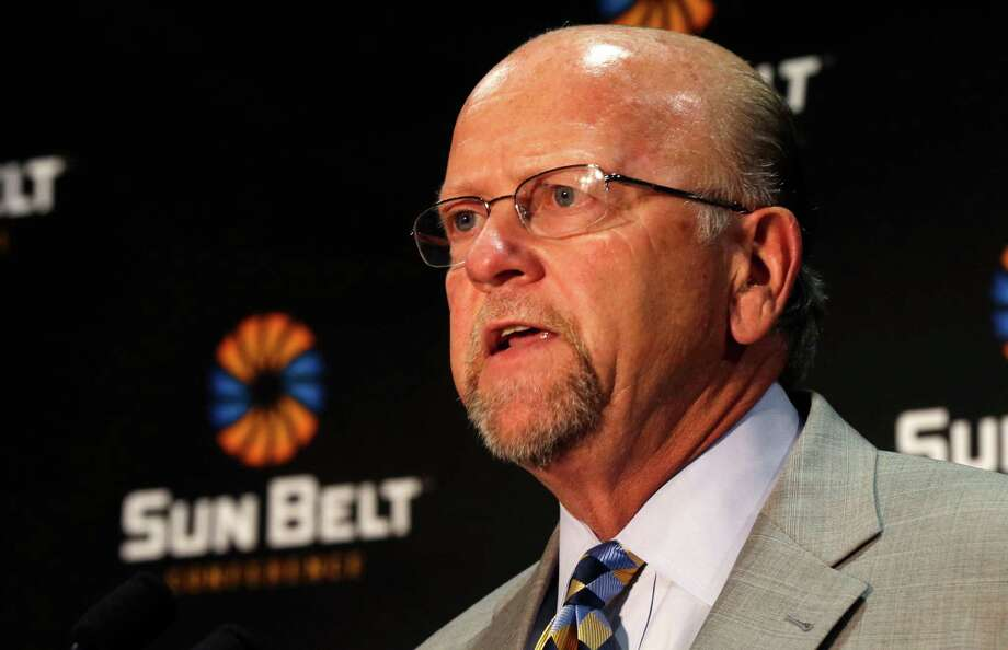 The Sun Belt Conference and commissioner Karl Benson will lose football-playing members New Mexico State and Idaho after this season. Photo: Uncredited /Associated Press / AP