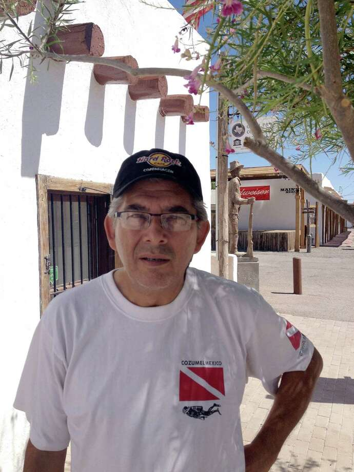 Local artist Al Borrego, Jr., has been a driving force in the revival of San Elizario. Photo: Joe Holley / Houston Chronicle