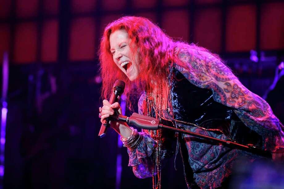 "Kacee Clanton as Janis Joplinin Alley Theatre's""A Night With Janis Joplin."" Photo: Mark And Tracy Photography"