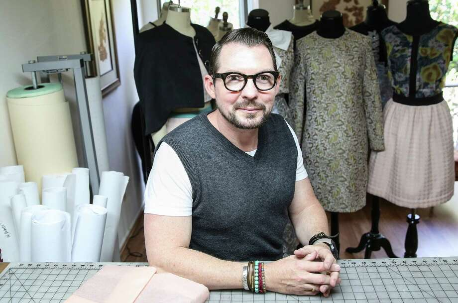 Steve Guthrie ditched his technology career in favor of fashion design. He now teaches fashion at HCC and has launched his eponymous collection. Photo: Elizabeth Conley, Staff / © 2016 Houston Chronicle