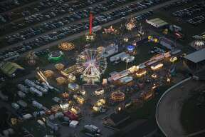 Aerial view of the Midland County Fair and Fairgrounds seen on Thursday, August 28, 2016.