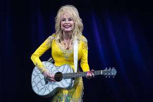 Country music legend Dolly Parton performs at Mohegan Sun Arena in Wilkes-Barre Twp., Pa. during her Pure and Simple Tour on Wednesday, June 22, 2016. (Christopher Dolan/The Citizens' Voice via AP) MANDATORY CREDIT