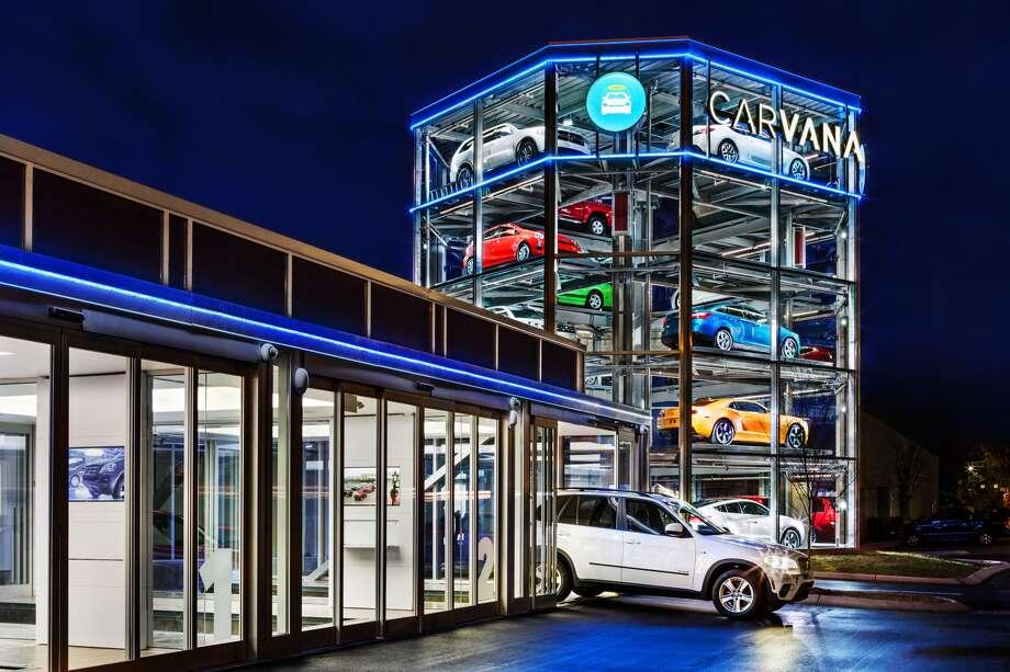 Carvana operates this vehicle vending machine in Nashville, Tenn.