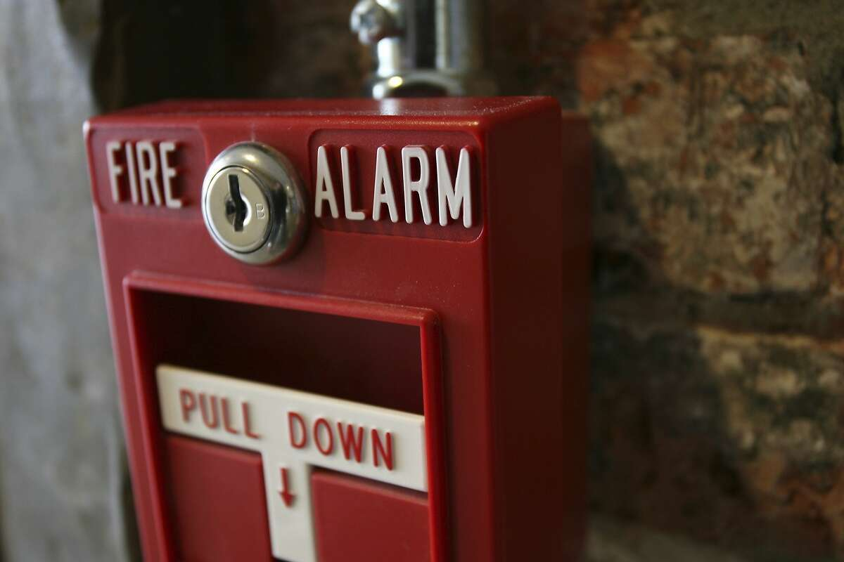File photo of fire alarm Fire Alarm Pull Station 2