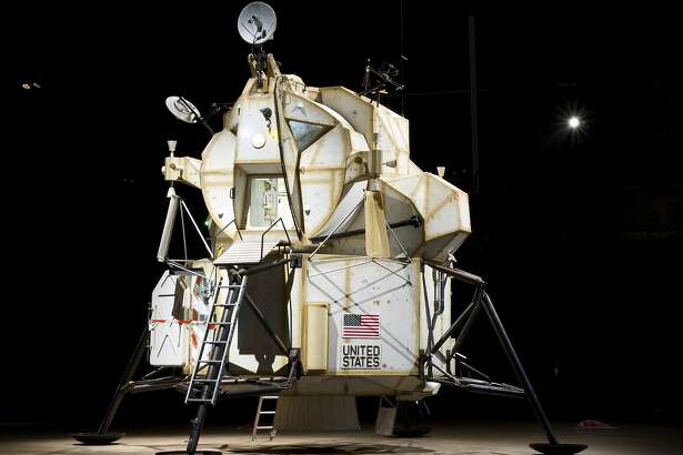 A performance/installation by Tom Sachs, �Mission to Europa: Tea Ceremony,� is scheduled at Yerba Buena Center for the Arts beginning Sept. 16. Pictured, from an earlier installation, is �Landing Excursion Module� (2007), a 23-foot-high sculpture made of steel, plywood, resin, electronics and assorted found objects.