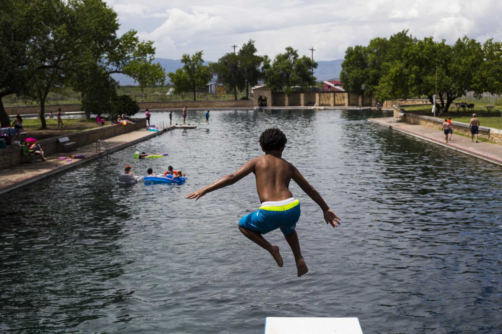 Balmorhea spring fed swimming pool reopens in west texas - Swimming pools in san antonio texas ...