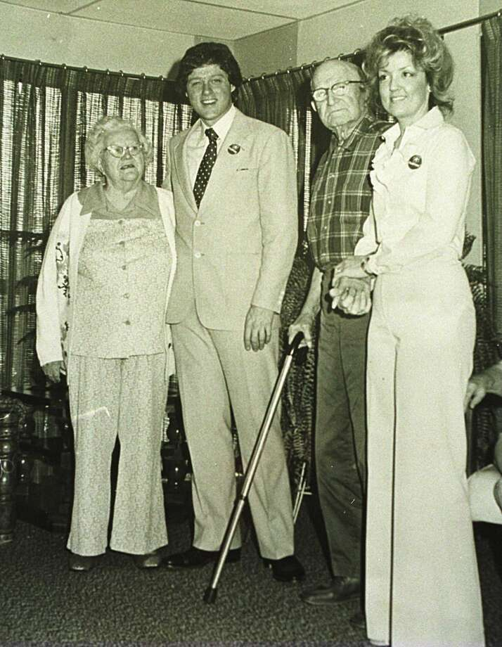 Bill Clinton on a visit to Juanita Broaddrick's (right) nursing home in Van Buren, Ark., circa 1978. Photo: Getty Images
