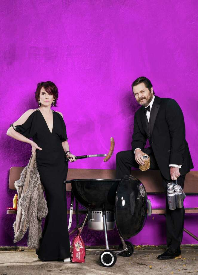Megan Mullally and her husband, Nick Offerman, bring their comedic variety show to Foxwoods Resort Casino on Saturday, Aug. 27. Photo: Eric Schwabel / Contributed Photo