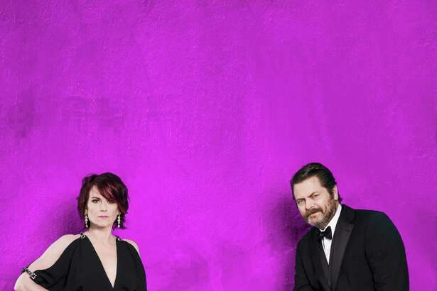 Megan Mullally and her husband, Nick Offerman, bring their comedic variety show to Foxwoods Resort Casino on Saturday, Aug. 27.