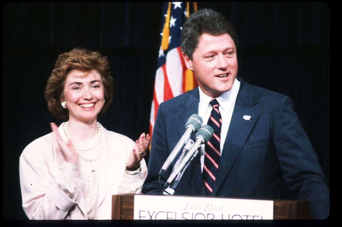Arkansas governor Bill Clinton speaks at the Excelsior Hotel July 16, 1987 in Little Rock, AR. From August 1986 to August 1987, Governor Clinton served as chairman of the non-partisan National Governors'' Association, leading efforts to reform states'' welfare systems.