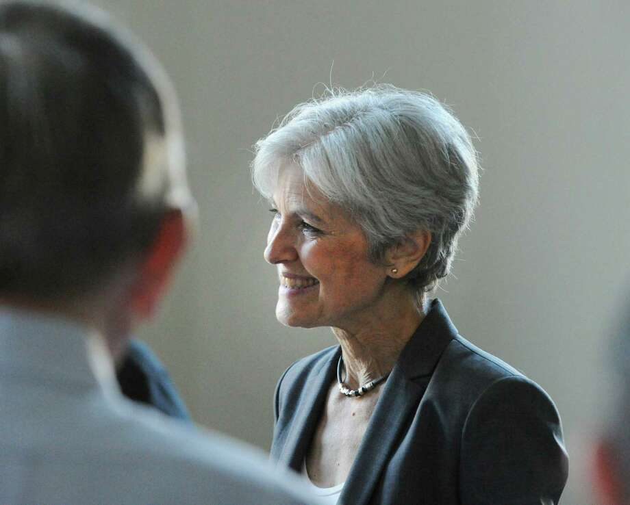 Dr. Jill Stein, Green Party candidate for president, during an appearance at the Stamford Innovation Center last month. Photo: Bob Luckey Jr. / Hearst Connecticut Media / Greenwich Time