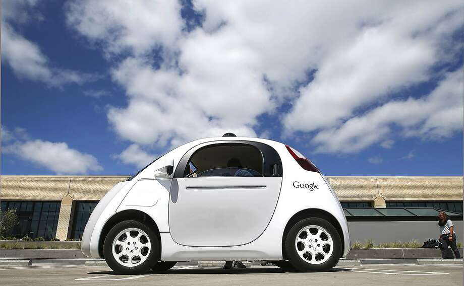 This May 13, 2015, file photo, shows Google's self-driving car during a demonstration at the Google campus in Mountain View, Calif. Photo: Tony Avelar, Associated Press