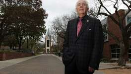 Portrait of Dr. Louis J. Agnese, Jr., President of the University of the Incarnate Word, on Friday, Feb. 20, 2015. Agnese has led the university since 1985.  (Kin Man Hui/San Antonio Express-News)