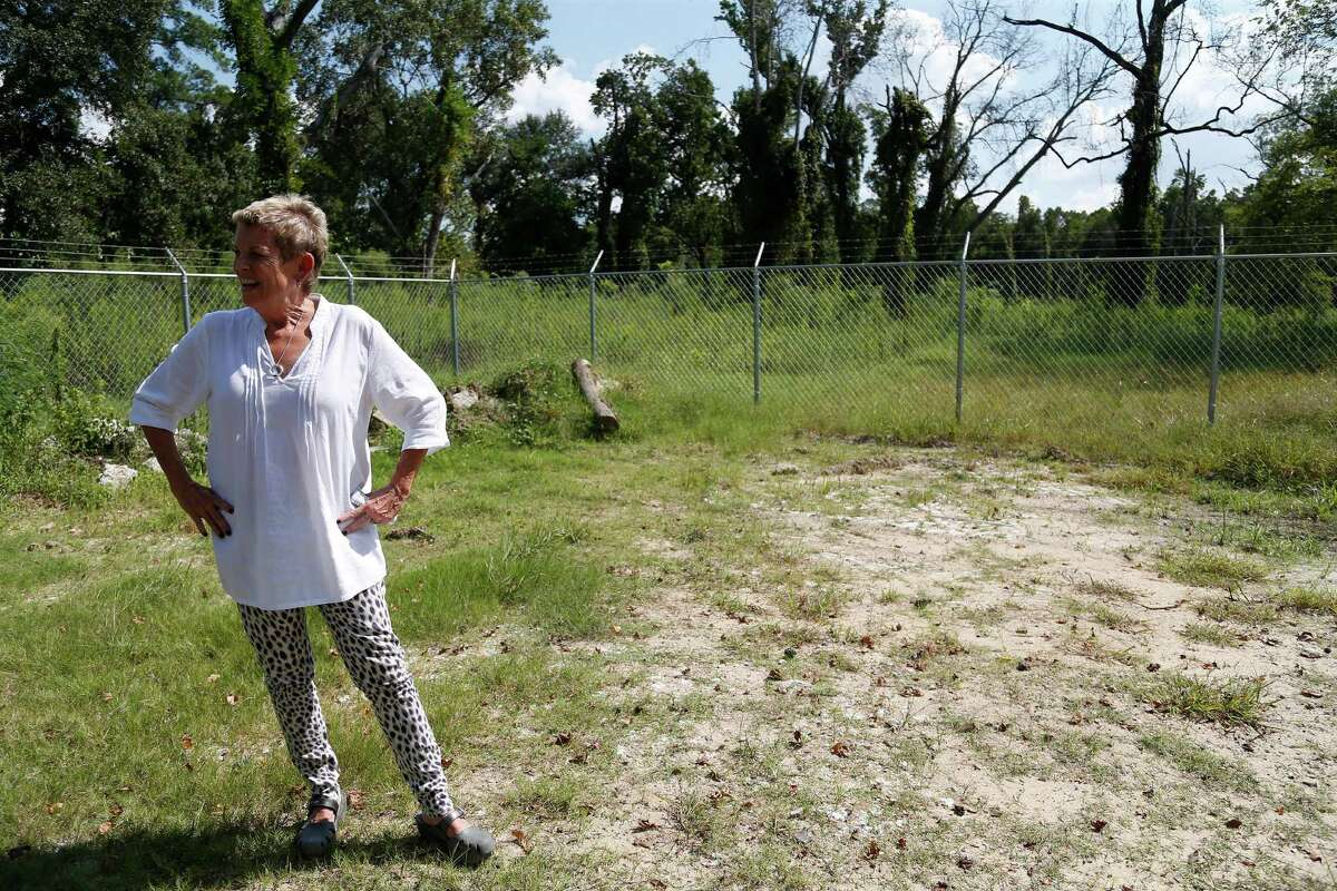 Heidi Eagleton in the lot of an old Heights-area bungalow that's been restored and moved to Acres Homes where it will be part of a pocket community developed by Eagleton. Photographed on Wednesday, Sept. 30, 2015. ( Karen Warren / Houston Chronicle )