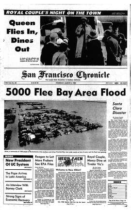 Historic Chronicle front page  March 03, 1983  Widespread flooding in Bay Area ..  Alviso hit the hardest
