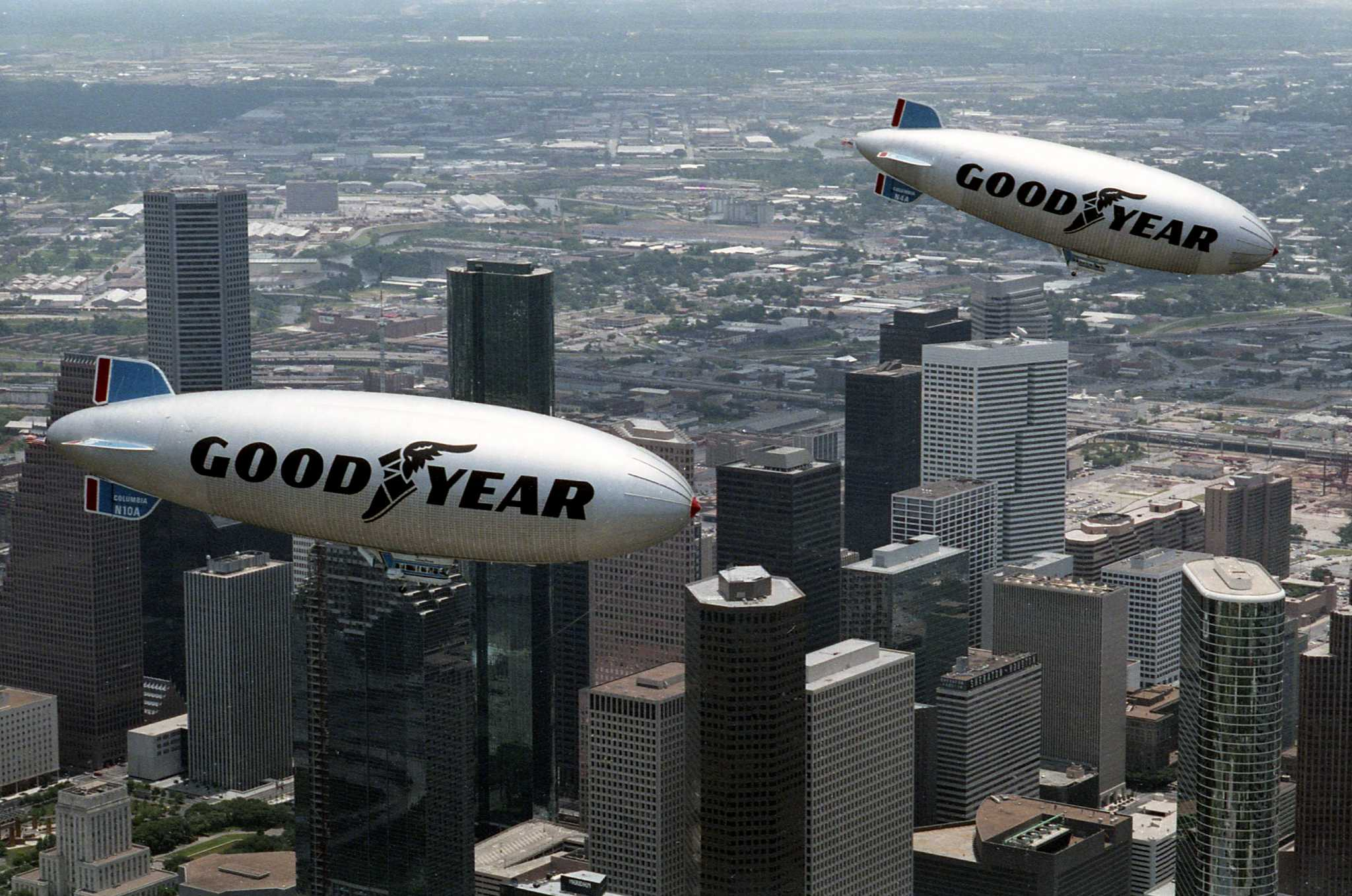The Goodyear Blimp used to call the area home - Houston Chronicle