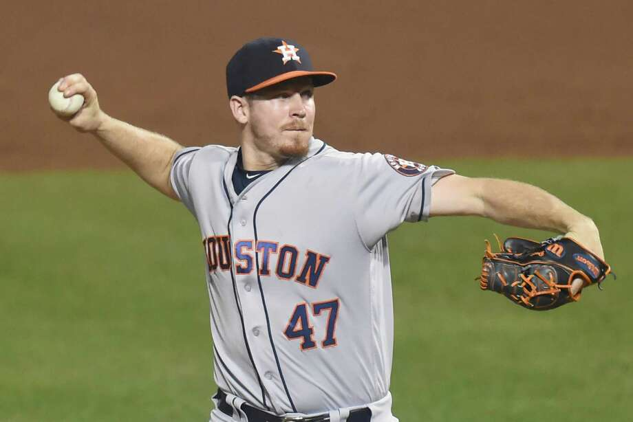 Astros rookie reliever Chris Devenski has utilized his slider much more of late, making him a particularly effective weapon out of the bullpen. Photo: Mitchell Layton, Getty Images / 2016 Getty Images