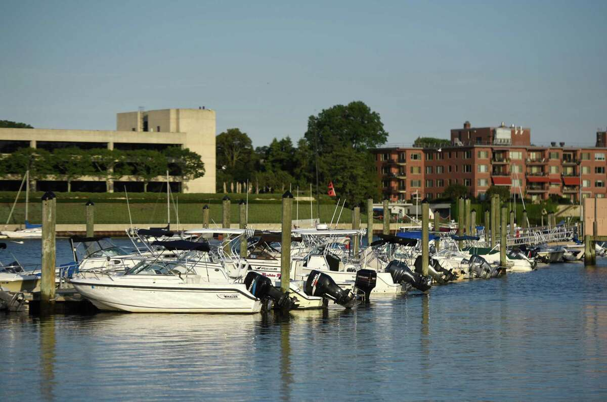Boats are docked at the Grass Island Marina in Greenwich Harbor in Greenwich, Conn. Tuesday, Aug. 9, 2016. New York State, which shares Long Island Sound with Greenwich and the rest of coastal Connecticut, has just adopted tougher drunk boating laws.