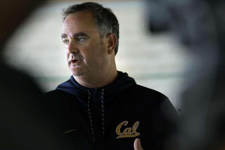 Cal Bears' football head coach Sonny Dykes during a media availability at Memorial Stadium in Berkeley, California, on Fri. Aug. 19, 2016.
