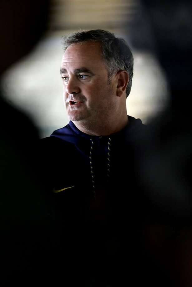 Cal Bears' football head coach Sonny Dykes during a media availability at Memorial Stadium in Berkeley, California, on Fri. Aug. 19, 2016. Photo: Michael Macor, The Chronicle