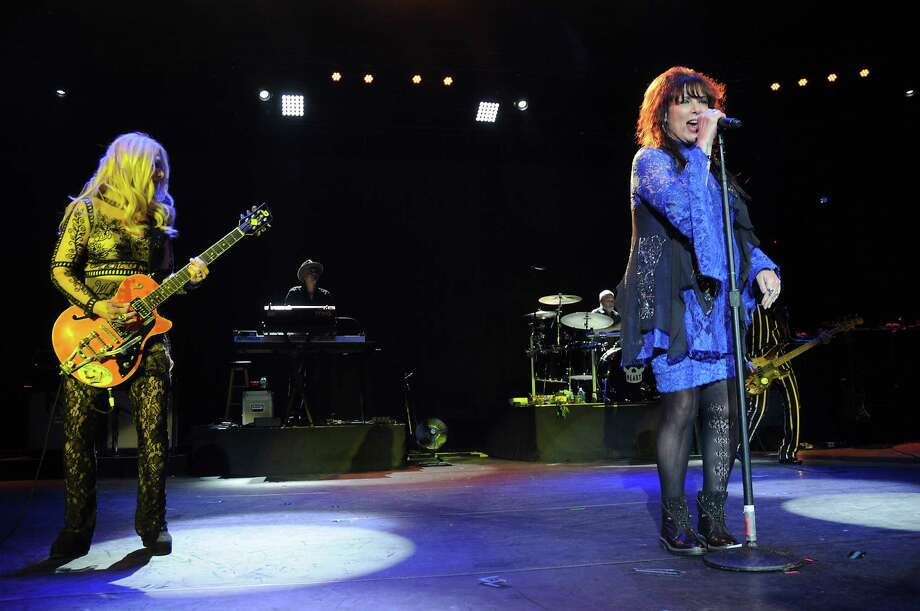 Nancy and Ann Wilson of Heart perform during the Rock Hall Three for All concert at Cynthia Woods Mitchell Pavillion Friday Aug. 19, 2016. (Dave Rossman Photo) Photo: Dave Rossman, For The Chronicle / Dave Rossman
