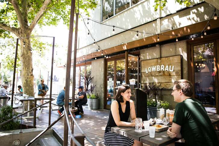 The patio Lowbrau in midtown Sacramento, California, August 15, 2015.