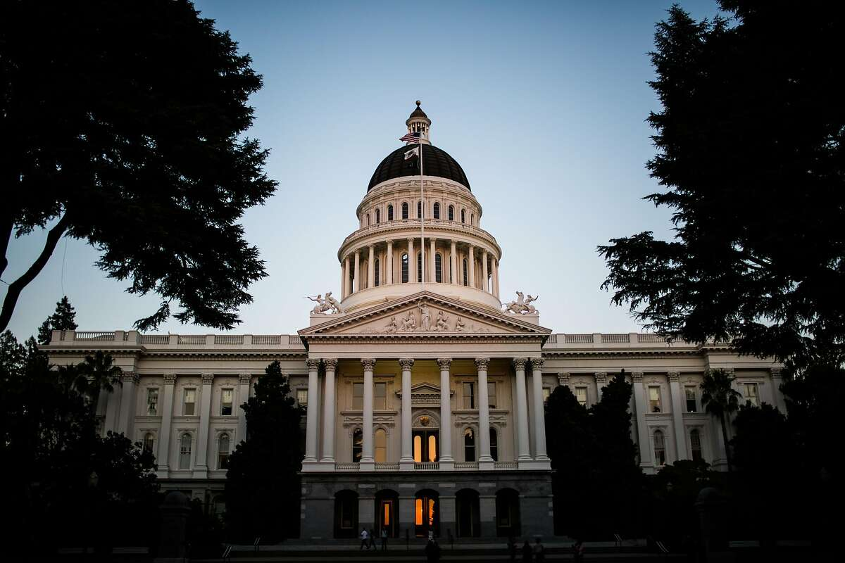 The State Capitol in downtown Sacramento, California on August 17, 2015.
