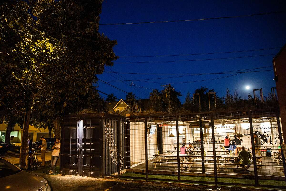 The Federalist Public House is built out of shipping containers in midtown Sacramento, California on August 17, 2015.