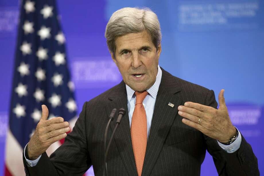Secretary of State John Kerry is heading to Kenya and Nigeria before holding talks in Saudi Arabia. Photo: Cliff Owen, Associated Press