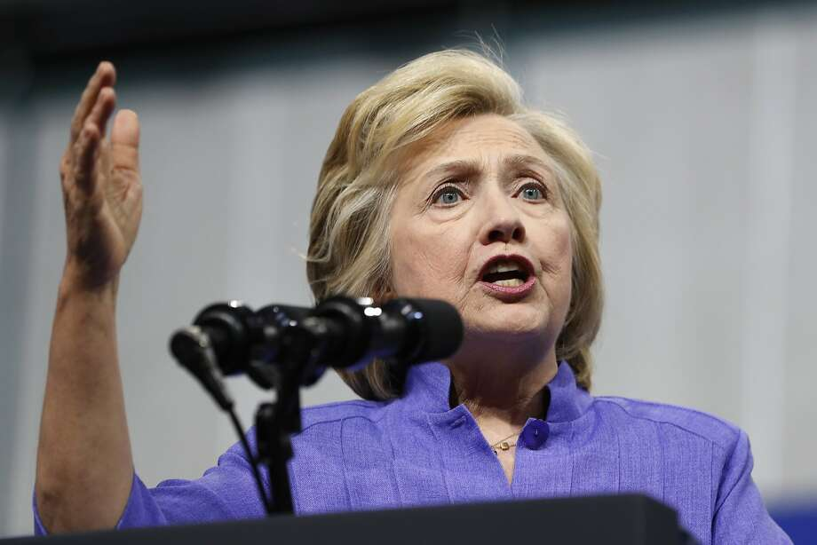 Hillary Clinton has been spending plenty of time raising money while Donald Trump dominates the political chatter. Photo: Carolyn Kaster, Associated Press