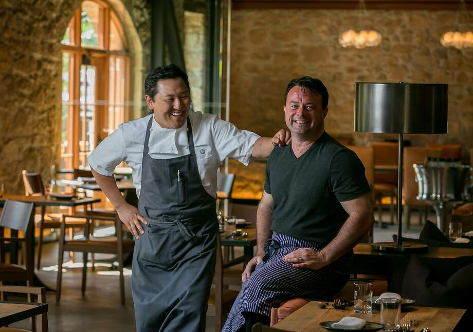 Sang Yoon (left) and Douglas Keane have joined forces at Two Birds/One Stone. Photo: John Storey, Special To The Chronicle