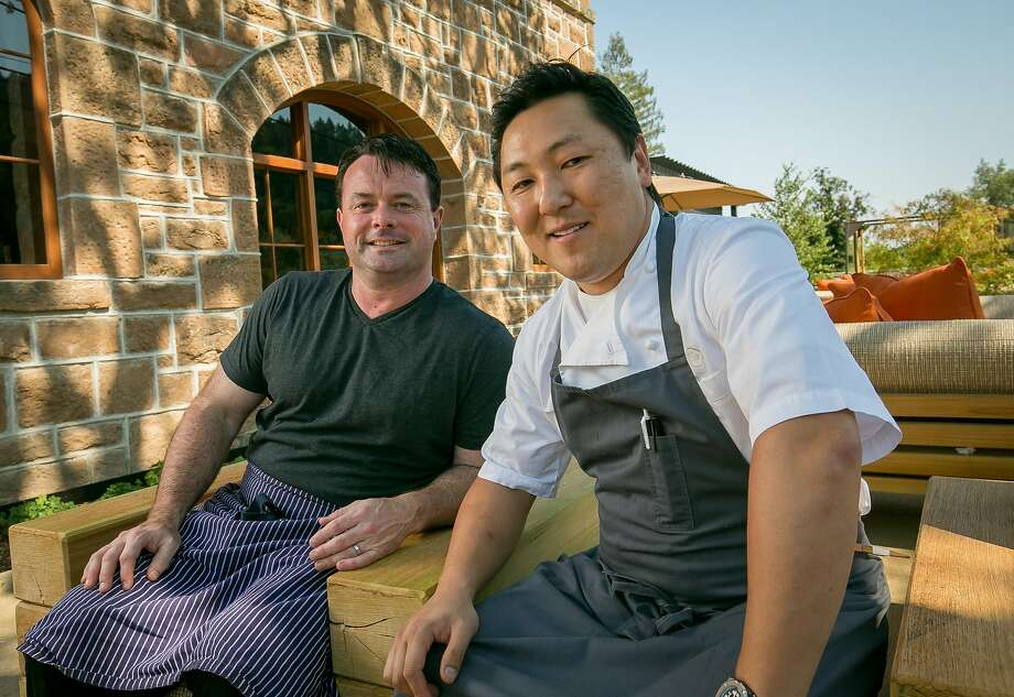 Chefs Sang Yoon and Douglas Keane at Two Birds One Stone restaurant in St. Helena, Calif. are seen on August 19th, 2016. Photo: John Storey, Special To The Chronicle