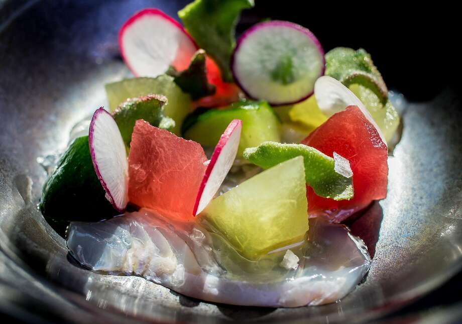 The Hirame Sashimi at Two Birds One Stone restaurant in St. Helena, Calif. is seen on August 19th, 2016. Photo: John Storey, Special To The Chronicle