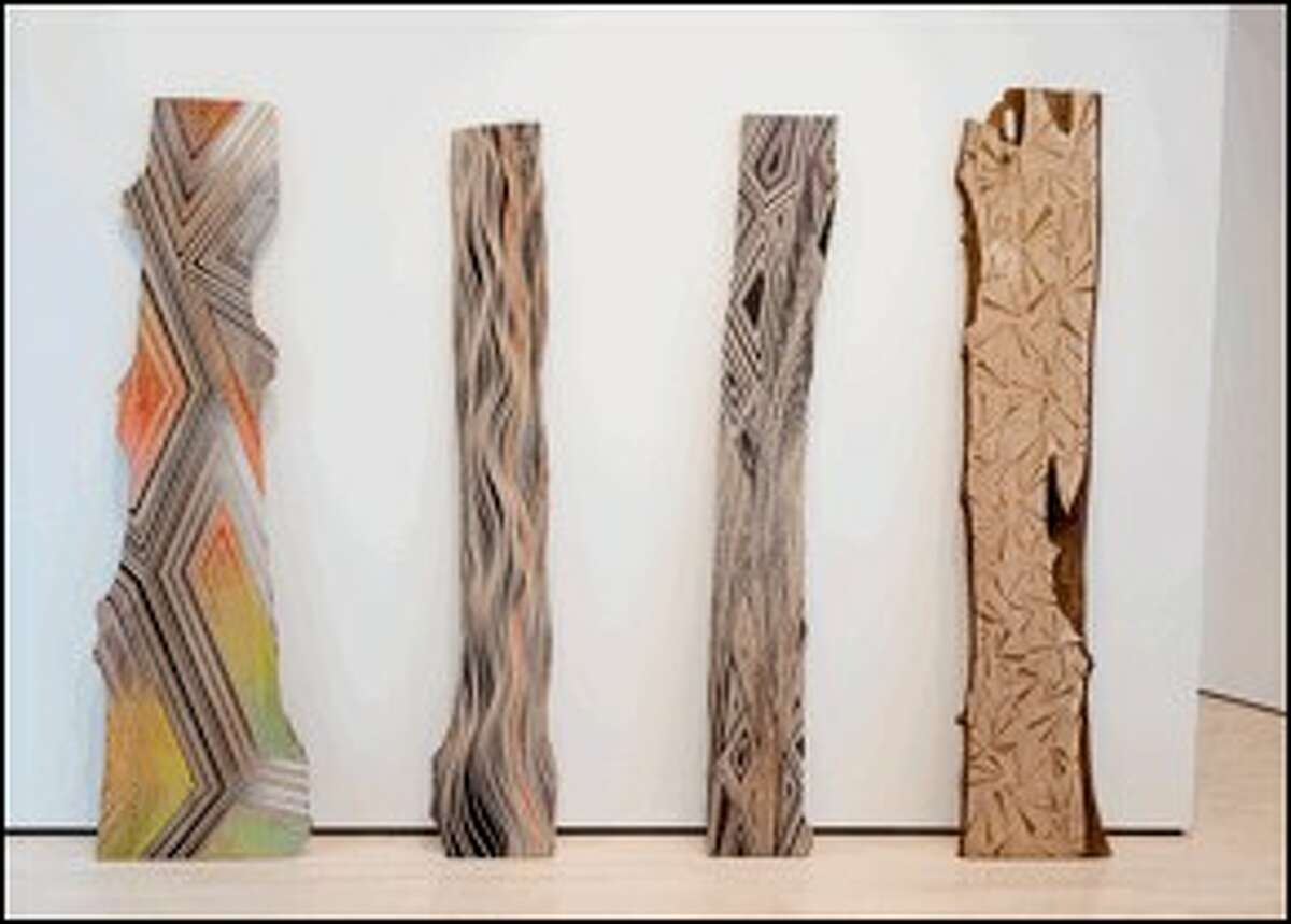 """A new series of contemporary installations, """"Open House: Contemporary Art in Conversation with Cole,"""" is on display at the Thomas Cole National Historic Site featuring work by Jason Middlebrook, who is creating a site-specific piece with hardwood plank paintings and new works on paper. (Submitted photo)"""